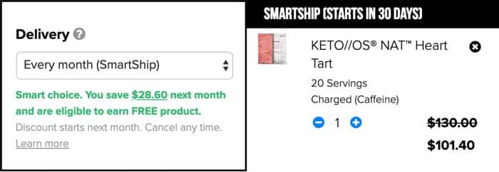 Pruvit Keto OS Smartship Discount