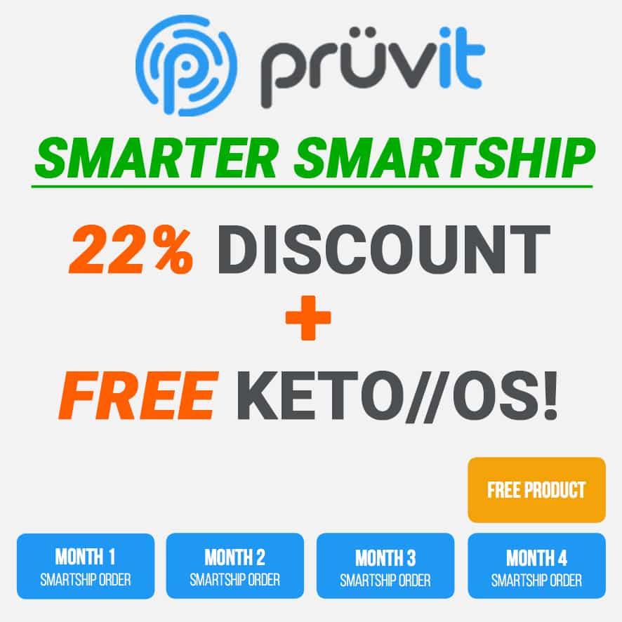 Pruvit Smartship 22% Off & Free Product