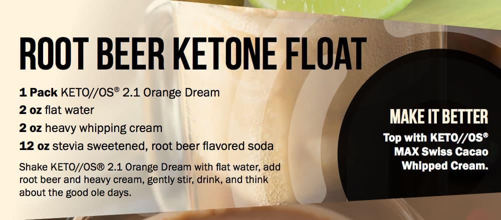Root Beer Ketone Float