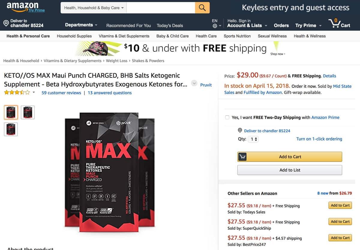 Keto OS on Amazon