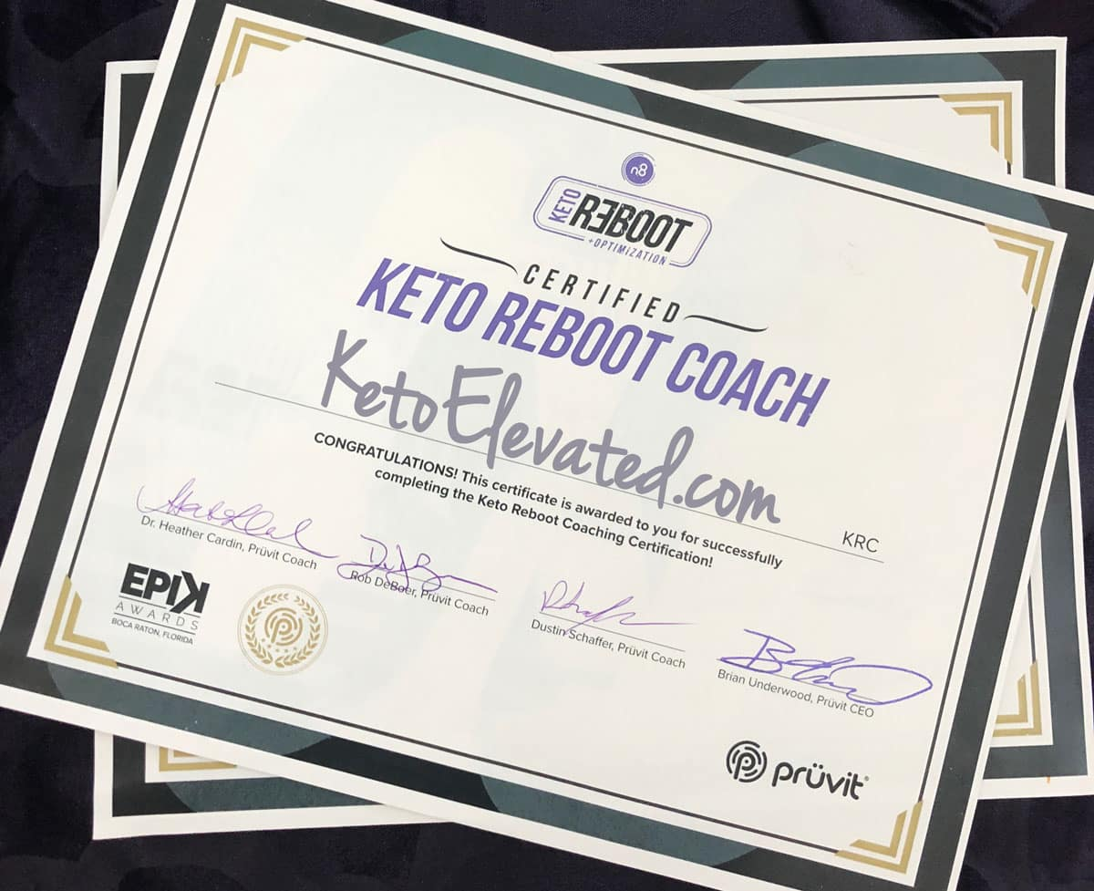 Keto Reboot Coach Certification