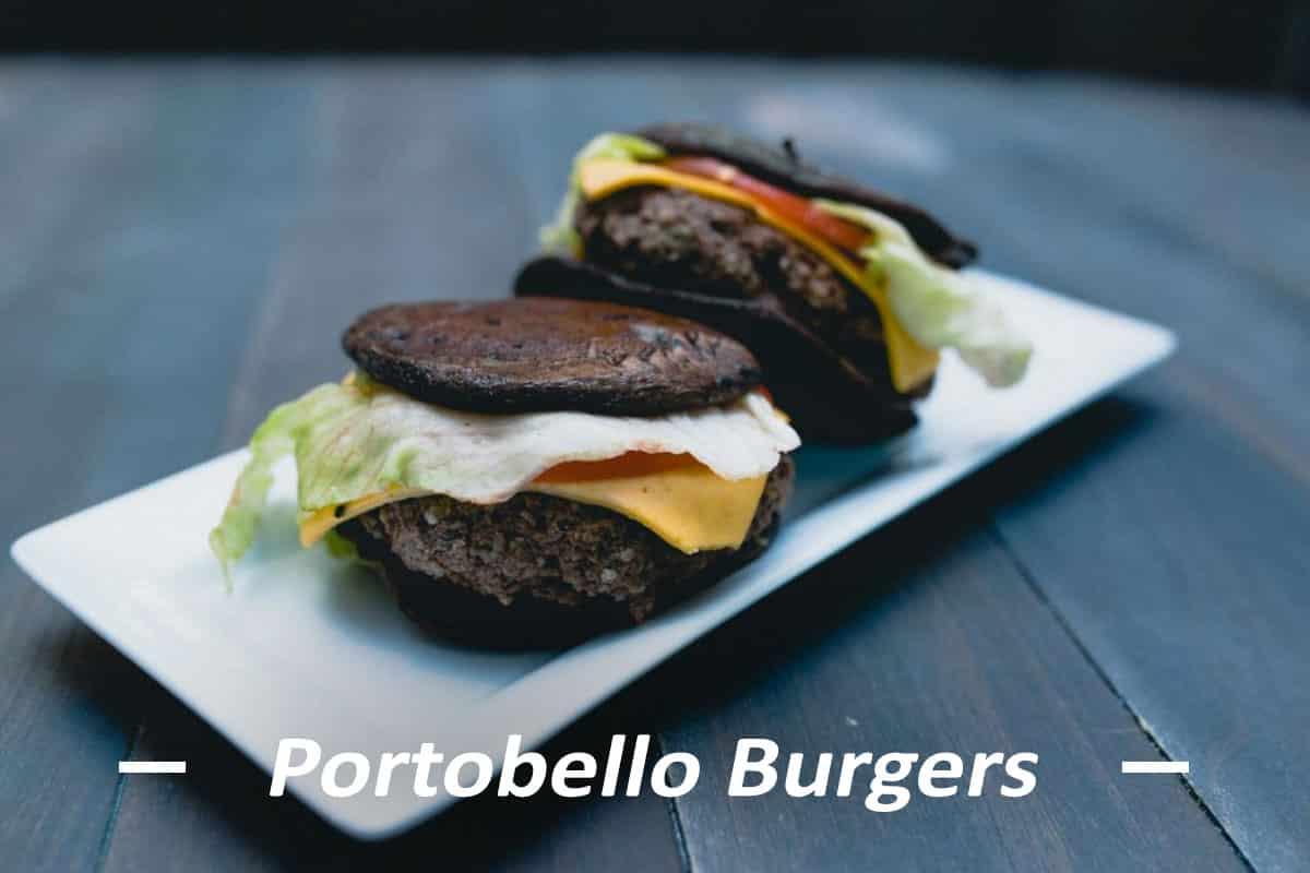 Portobello Mushroom Bun Burgers