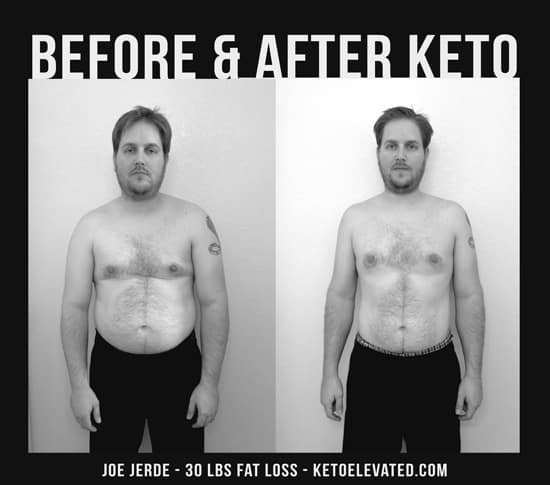 before and after keto