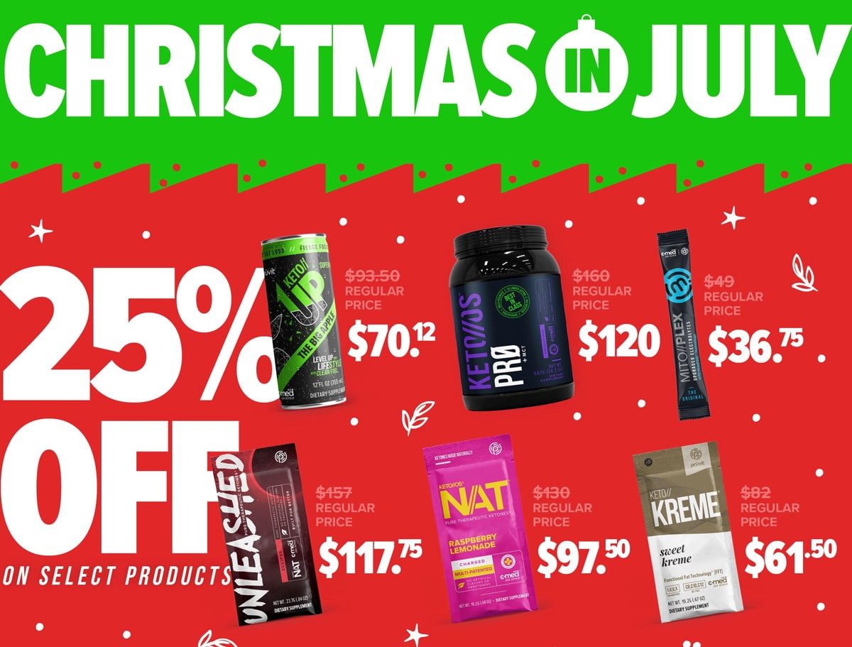 Pruvit Christmas in July Sale