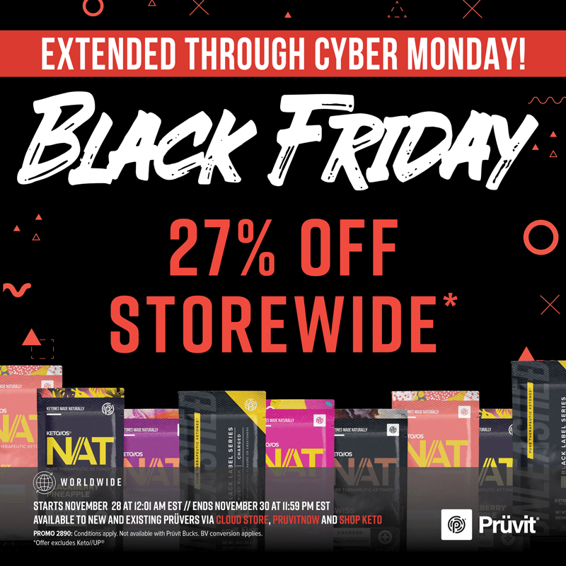 pruvit black friday 2020